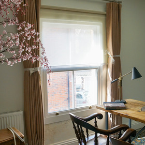 Curtains and Roller Blind