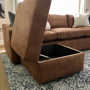 Bespoke openable storage ottoman