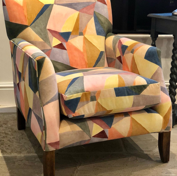 Occasional Chair in Omega Velvet