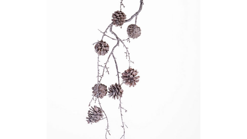 Pine Cone Hanger White Washed