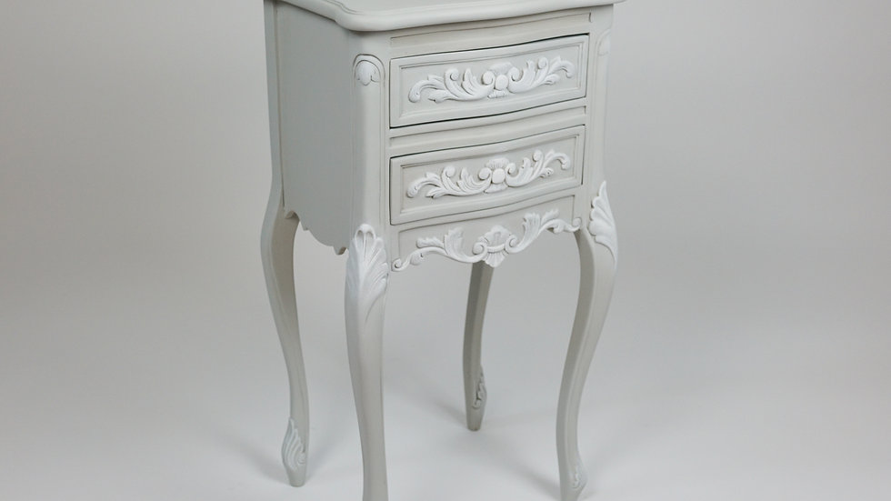 Pair of French 2 Drawer Bedside Cabinet