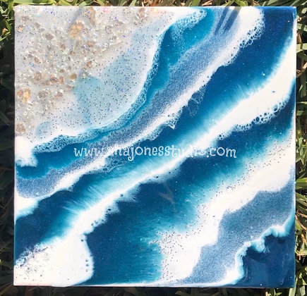 Effervescent 10x10 Resin Geode Art
