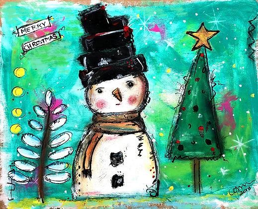Merry Christmas 11x 14 Luster Print