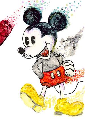 Mickey 11 x 14 Luster Print