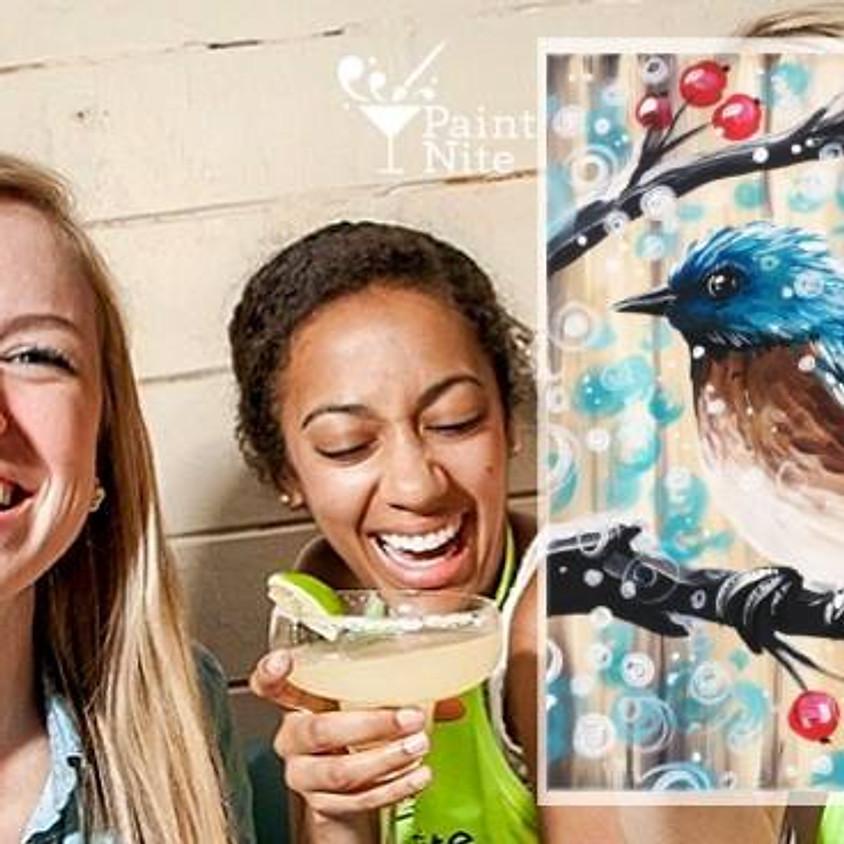 Paint Nite - Barn Board Snow Bird
