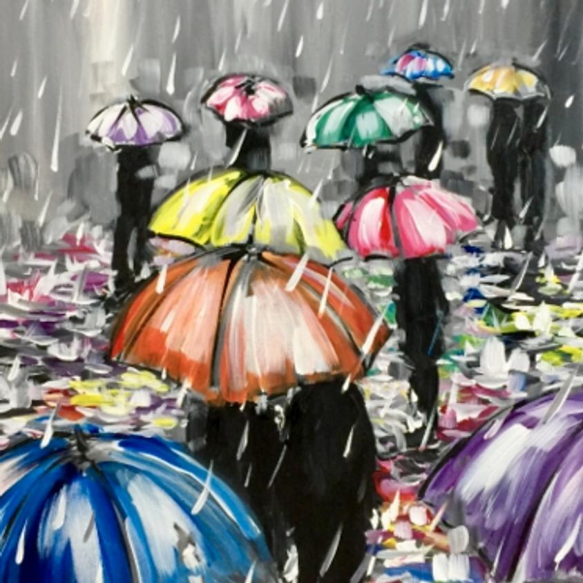Paint Nite - Rainy Reflections