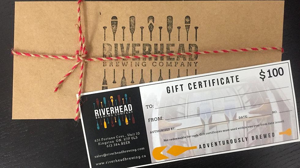 $100 Riverhead Gift Certificate