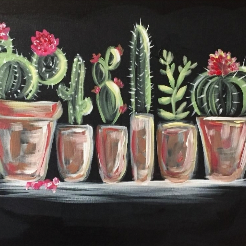Paint Nite - Cactus Collection II