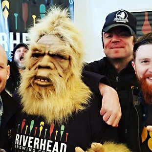 Brewster the big foot at the Kingston Craft Beer Festival