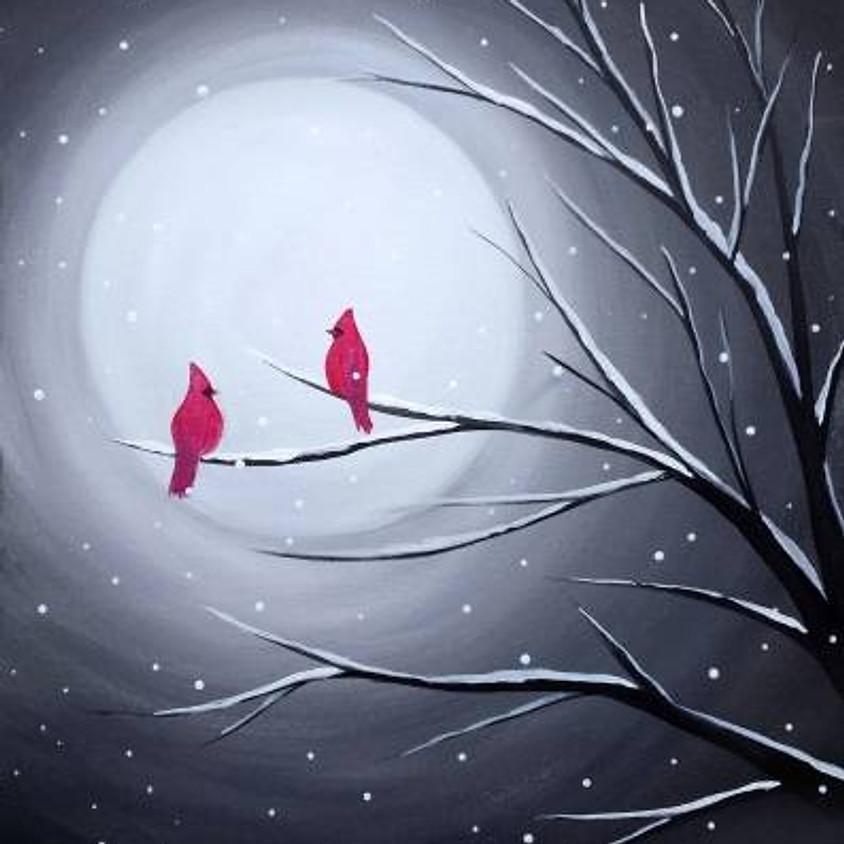 Paint Nite: Cardinal Moon