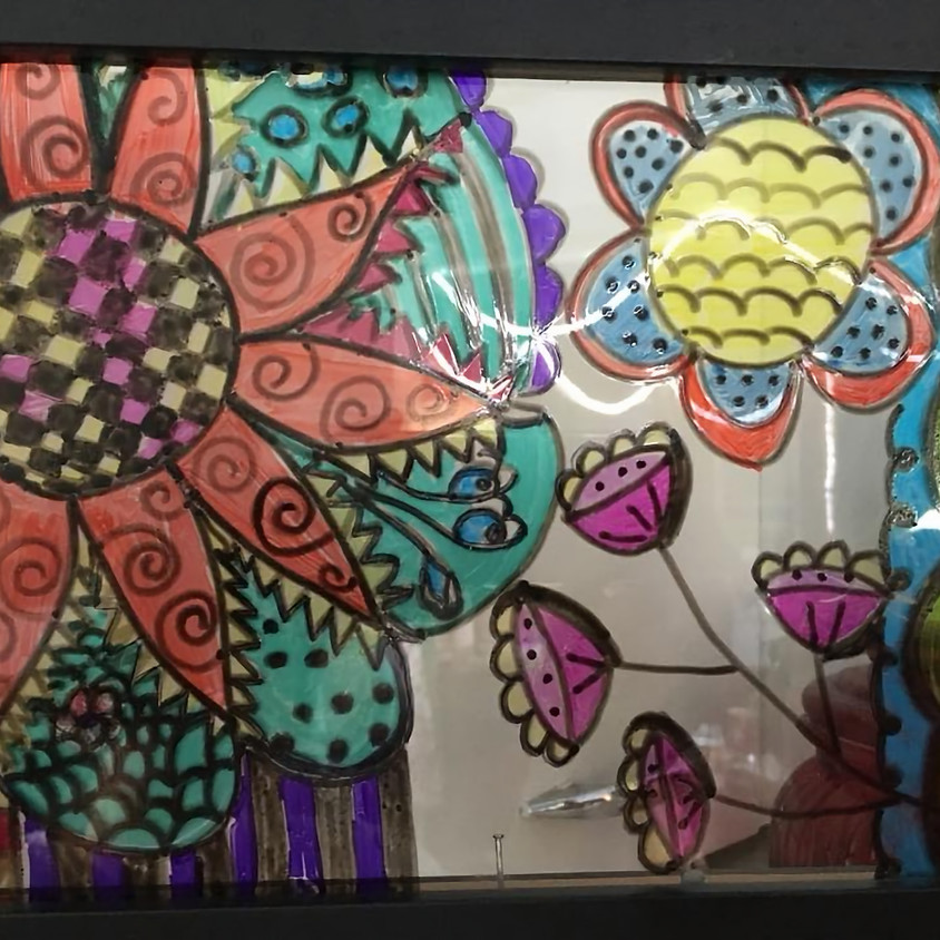Doodle Art on Glass at Riverhead Brewery