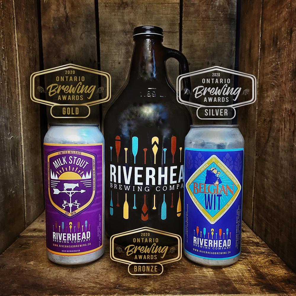 Riverhead Brewing 2020 Ontario Brewing Award winners