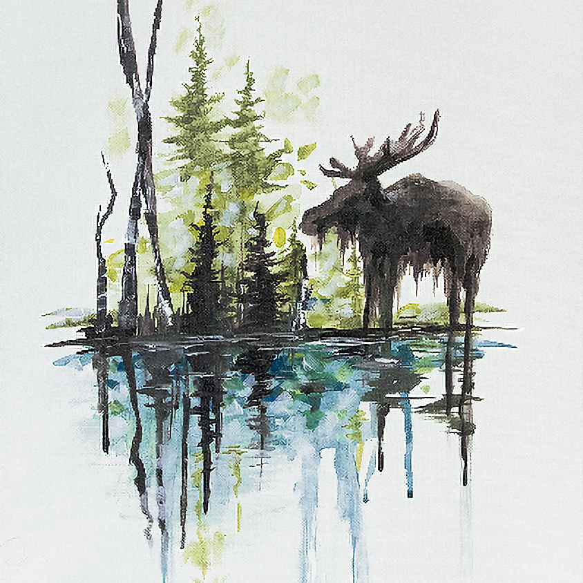 Paint Nite - Bruce The Moose Meets Spruce at Riverhead