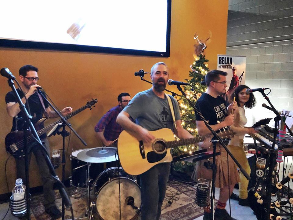 Celtic Kitchen Party playing at Celtic Christmas Party Riverhead Brewing at Riverhead Lodge in Kingston Ontario
