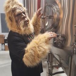 Riverhead Brewing Co Big Foot Mascot