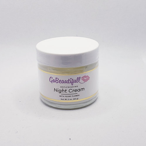 Replenishing  Night Cream with Lavender, Peony Flower and Probiotic