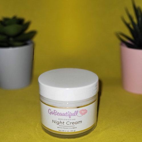Replenishing/Detox  Night Cream with Lavender and Peony Flower