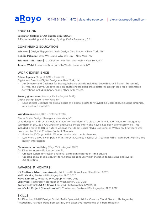 Aroyo_Alexandra_Digital Designer Resume_