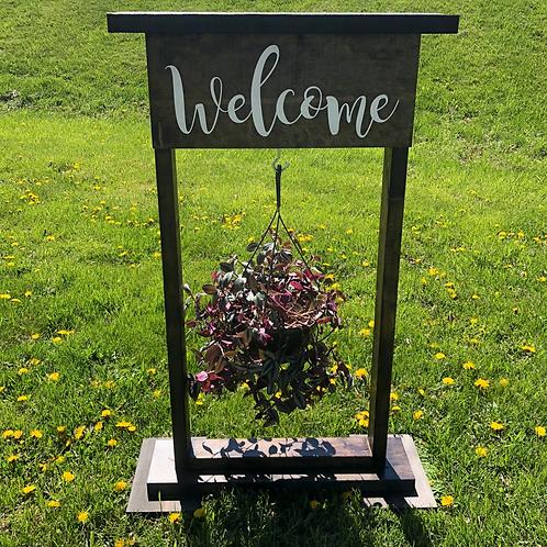 Hanging Flower Basket Stand
