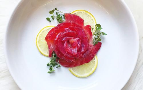 Elle Slater | Beetroot & Gin Cured Salmon