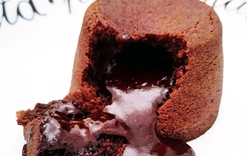 Elle Slater | Molten Dark Chocolate Fondant