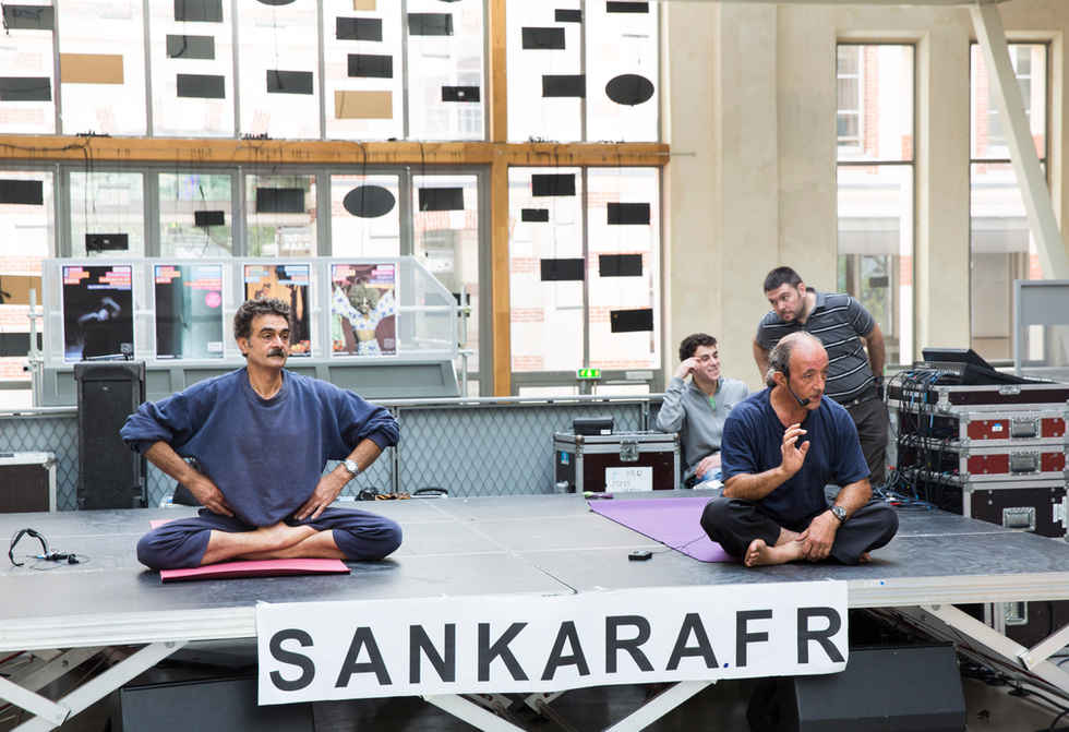 Jean Louis et Françis au festival de Yoga à Paris