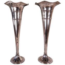 Silver Fluted Vase