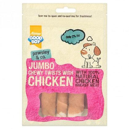 JUMBO CHICKEN CHEWY TWISTS - 100G
