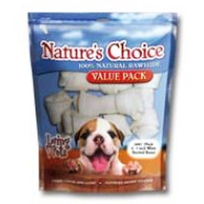 Nature's Choice - White Knotted bones 4-5inch
