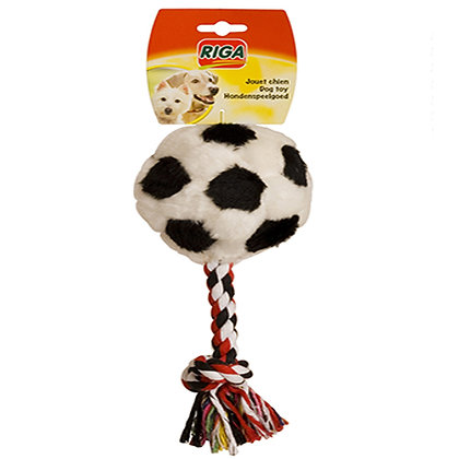 Plush foot ball and rope