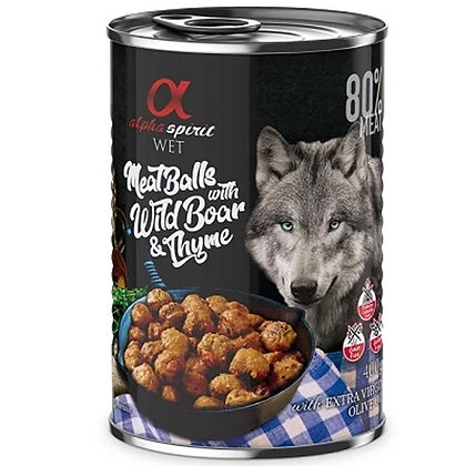 Wet Food Meat Balls With Boar & Thyme 400grms