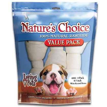 Nature's Choice - White Knotted Bones 6-7inch