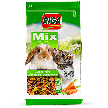 Riga Mix menu for dwarf rabbits with carrot 900g