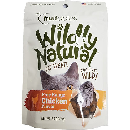 Fruitables Wildly Natural Cat Treats - Chicken Flavor (71g)