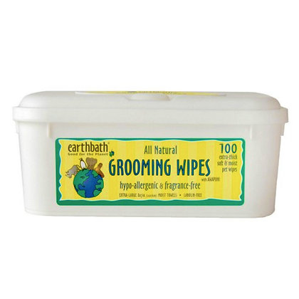 Grooming Wipes Hypoallergenic With Awapuhi Fragrance Free 100pcs