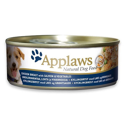 Applaws Dog Chicken Salmon 156g Tin