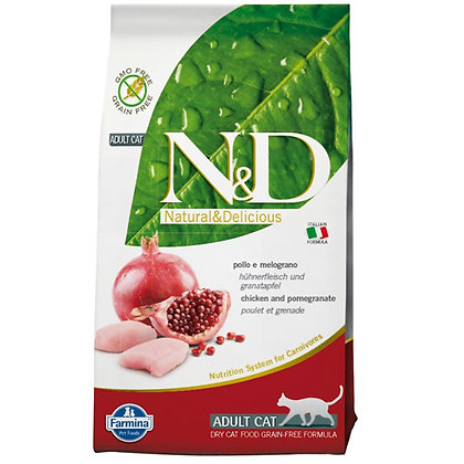 Farmina N&D Chicken and Pomegranate Adult Cat Dry Food 300g