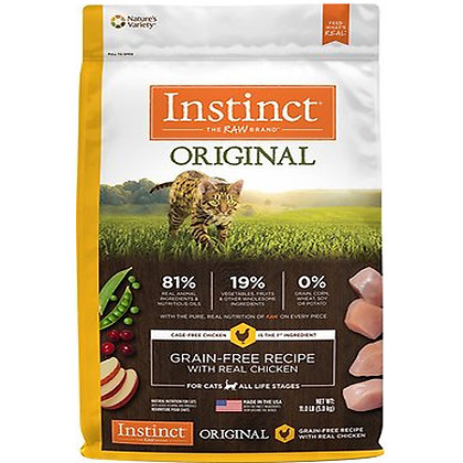 Instinct Original Grain Free Recipe Adult Cat dry Food with Real Chicken 2kg