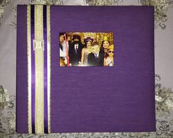 Purple & Gold Scrapbook