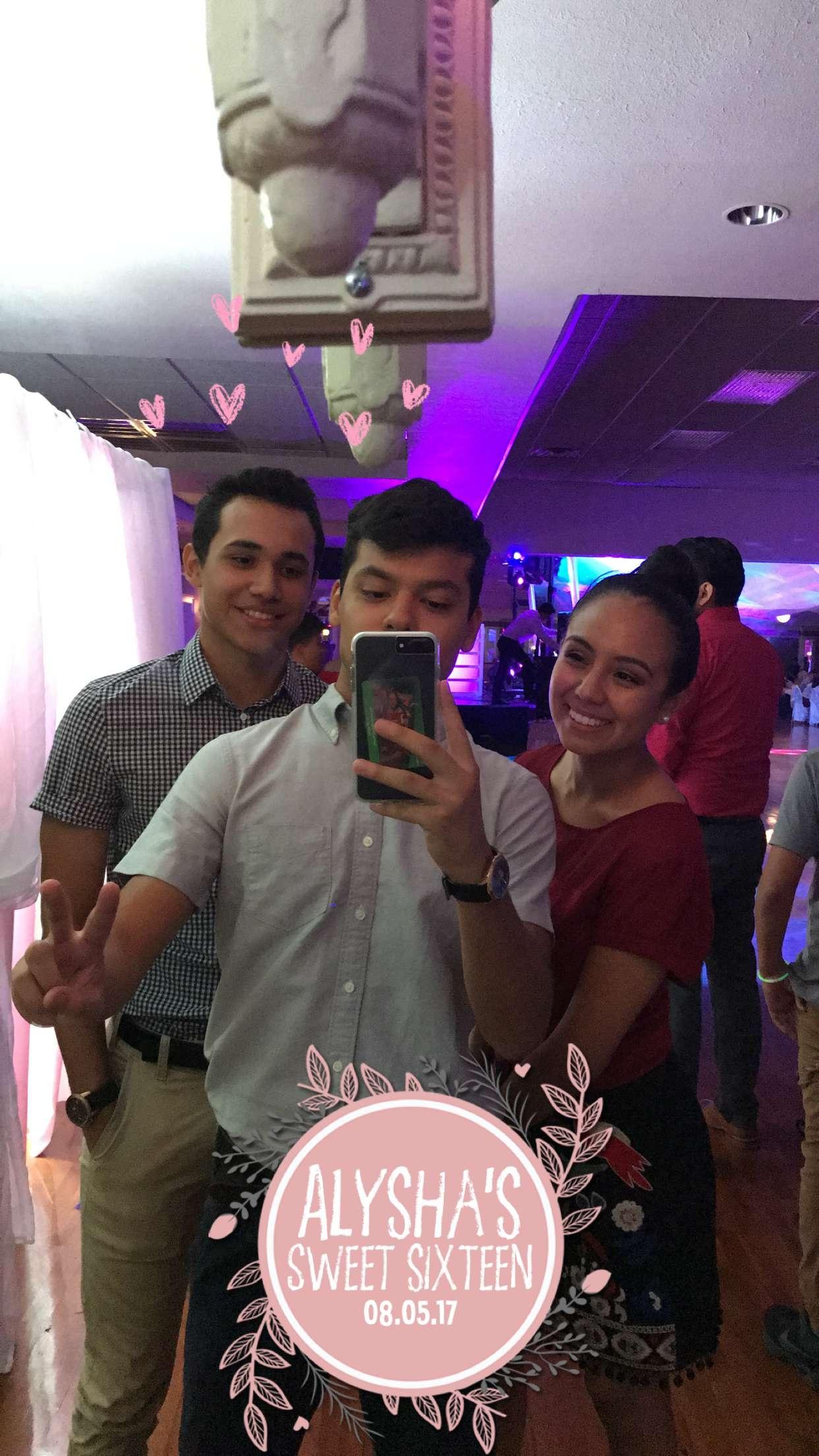 Sweet Sixteen Snapchat Filter
