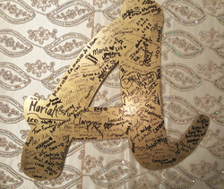 Wooden Initial Sign In
