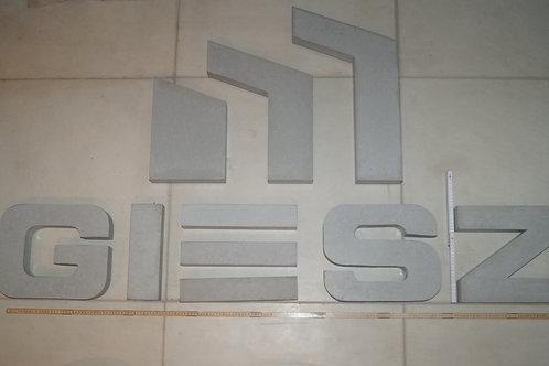 40cm Sonderanfertigung Nummern und Buchstaben Firmenschriftzug aus Bet