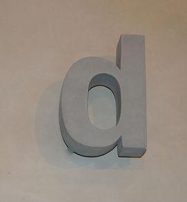 Betonbuchstabe d