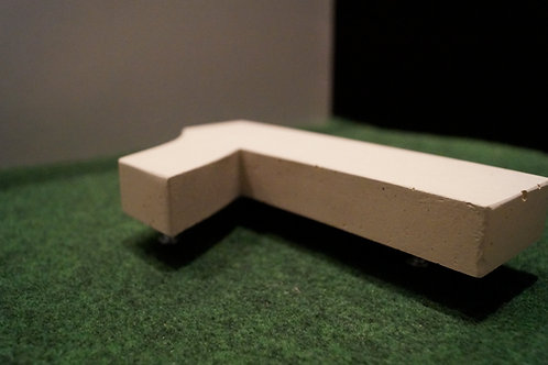 Hausnummer aus Beton arial black 2,5cm dünn