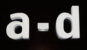 Buchstaben a-d
