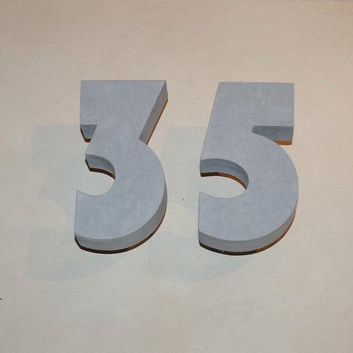 Hausnummer Beton (Bauhaus)