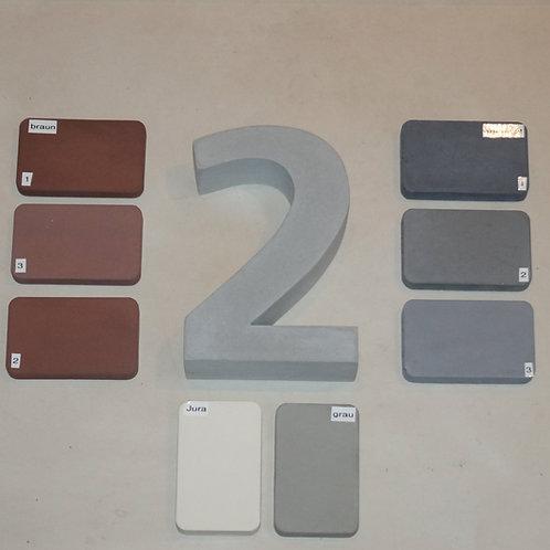 Hausnummer 1 (Schriftart:Charcoal CY)