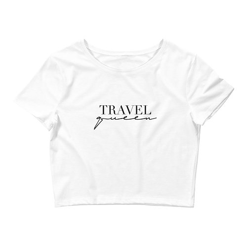Travel Queen Crop Top - Black Logo