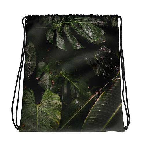 Greenery Drawstring Bag
