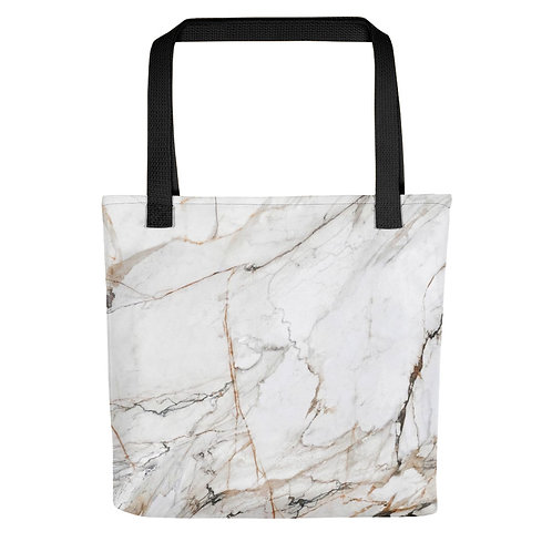 White Gold Marble Tote